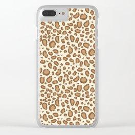 Leopard spots animal pattern print minimal basic home decor safari animals Clear iPhone Case