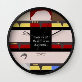 Maybe it's not the Destination that matters - square - Star Trek: Voyager VOY  trektangle minimalist Wall Clock