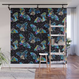 Three Bat Brothers Psychedelic Pattern Wall Mural