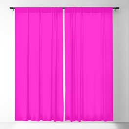 From The Crayon Box – Hot Magenta - Bright Neon Pink Purple Solid Color Blackout Curtain