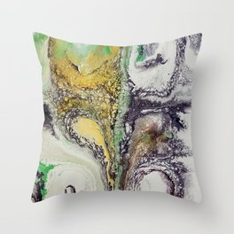 The rivers, acrylic on canvas Throw Pillow