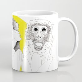 Monkeys i Tulips Coffee Mug
