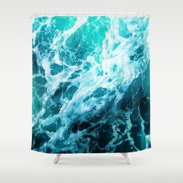 Out there in the Ocean Shower Curtain
