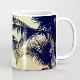 Vintage Palm trees with patio lanterns Coffee Mug