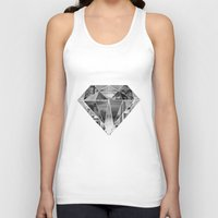 diamond Tank Tops featuring Diamond by fyyff
