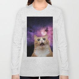Space Selfie Cat Long Sleeve T-shirt