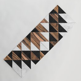 Urban Tribal Pattern No.9 - Aztec - Concrete and Wood Yoga Mat