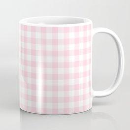 Light Soft Pastel Pink Cowgirl Buffalo Check Plaid Coffee Mug
