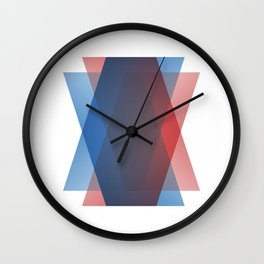 RedBlue Wall Clock