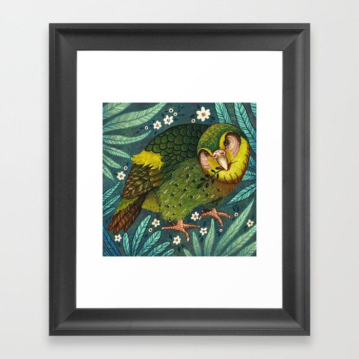 Kakapo Gerahmter Kunstdruck