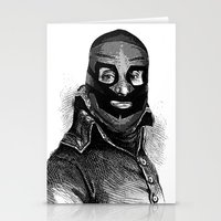 wrestling Stationery Cards featuring Wrestling mask 3 by DIVIDUS