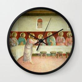 """Fra Angelico (Guido di Pietro) """"The Last Supper"""" Wall Clock"""