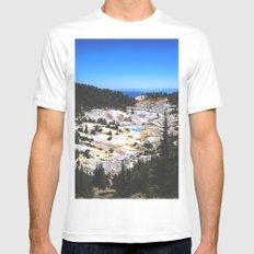 Bumpass Hell Pass Lassen Volcanic National Park Mens Fitted Tee MEDIUM White