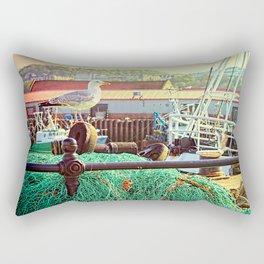 Busy Harbour Rectangular Pillow