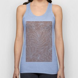 Engraved Tropical Line Unisex Tank Top
