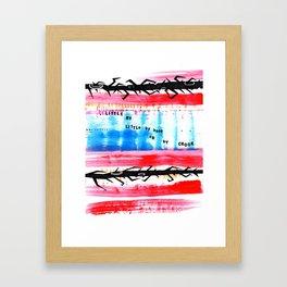 Little by Little Radiohead Inspired Print Framed Art Print