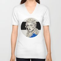 mother of dragons V-neck T-shirts featuring Mother Of Dragons by Fatma Sahem