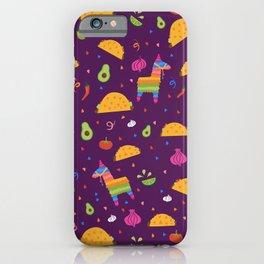 Taco Fiesta in Purple iPhone Case