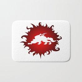 Amaterasu Logo- White Bath Mat