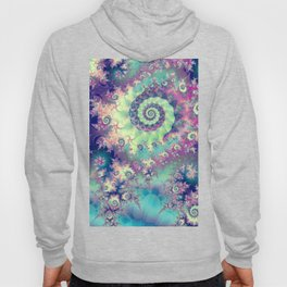 Violet Teal Sea Shells, Abstract Underwater Forest  Hoody