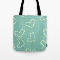socks Tote Bags featuring Socks by sinonelineman