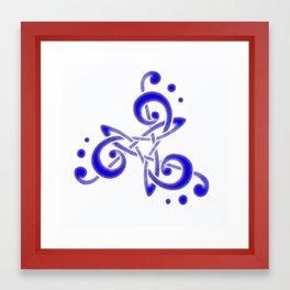 Treble Triskele Framed Art Print