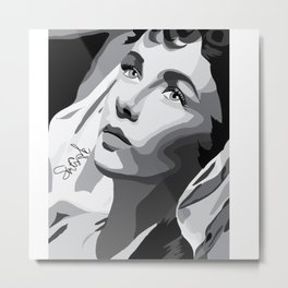 Elizabeth Taylor - Dreamy Eyes Metal Print