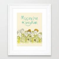 moonrise kingdom Framed Art Prints featuring Moonrise Kingdom by Elly Liyana