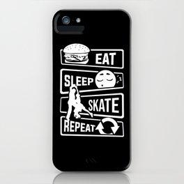 Eat Sleep Skate Repeat - Figure Skating Winter Ice iPhone Case