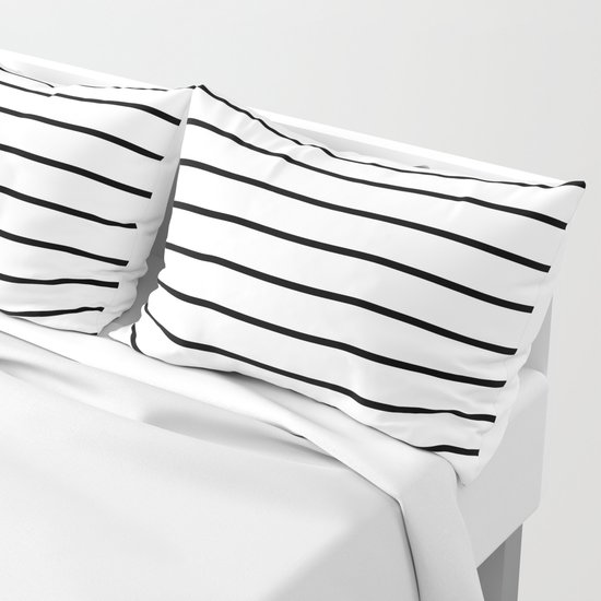 Minimalist Line Stripes Black And White by beautifulhomes