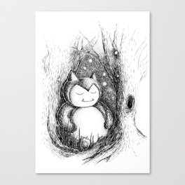 Snoozy Snorlax Canvas Print