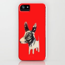 Red bulldog iPhone Case