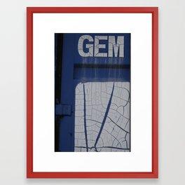 gem blue Framed Art Print
