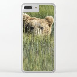 Being Watched by a Big Brown Bear Clear iPhone Case