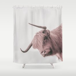 Turn Back Bull Shower Curtain