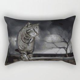 Cat Abstract Rectangular Pillow