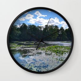 Lake With Lily Pads Wall Clock
