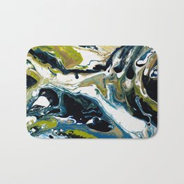 Abstract Flow Art - Expressions- We are all connected Bath Mat
