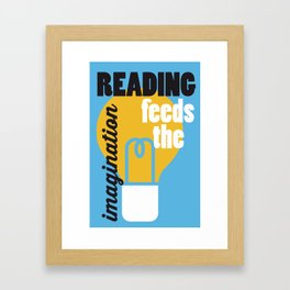 Imagination - Just Read Framed Art Print