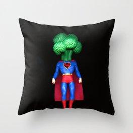 Super Brocolli Throw Pillow