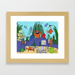 Singing Fish Framed Art Print