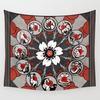 zodiac Wall Tapestries featuring Chinese Zodiac by Shalinka