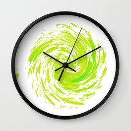 Ripple_Spin_Green Wall Clock