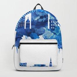 Gdansk Poland Skyline Blue Backpack