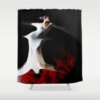 spanish Shower Curtains featuring Spanish Dream by Müge Başak