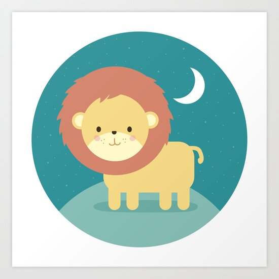 Rory the Lion Art Print