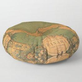 Historical Map of Panama Floor Pillow