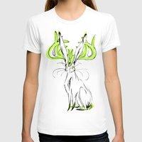 jackalope T-shirts featuring Jackalope - Chartreuse by Jen Overstreet