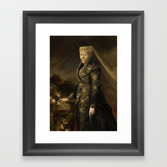 THE QUEEN OF THORNS Framed Art Print
