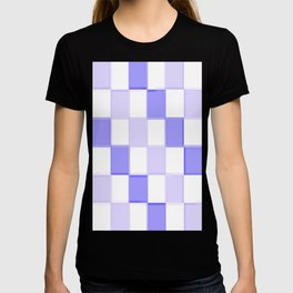 Periwinkle Blue Lavender Checkerboard T-shirt